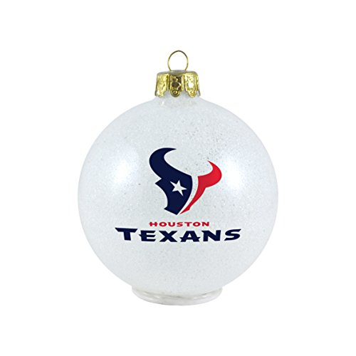 NFL Houston Texans LED Color Changing Ball Ornament, 2.625″, White