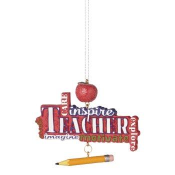 """Teachers Motivate"" Ornament"