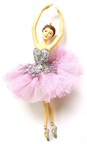 Christmas Decoration 6.5″ Ballerina Christmas Tree Ornament (4 Styles) (Red (A))
