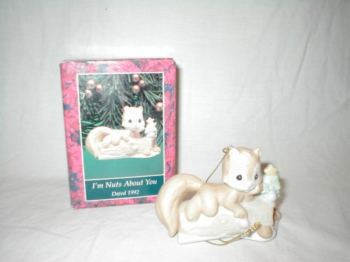 Precious Moments Figurine Christmas Ornament ~ I'm Nuts About You ~ Dated 1992 ~ #520411