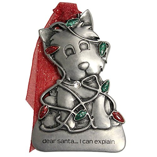 Gloria Duchin Pewter Puppy in Crystallized Swaroski Elements Ornament