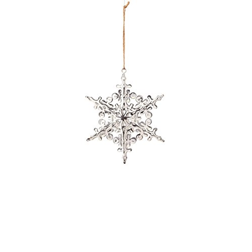 Sage & Co. XAO18290GY Tin Dimensional Star Ornament (5 Pack)