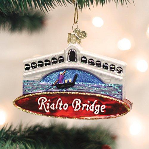 Old World Christmas Rialto Bridge Glass Blown Ornament
