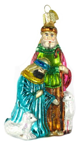 Old World Christmas Shepherds Glass Blown Ornament