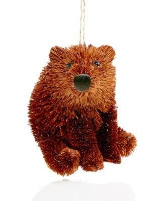 Holiday Lane Set of 2 Buri Bear Ornaments