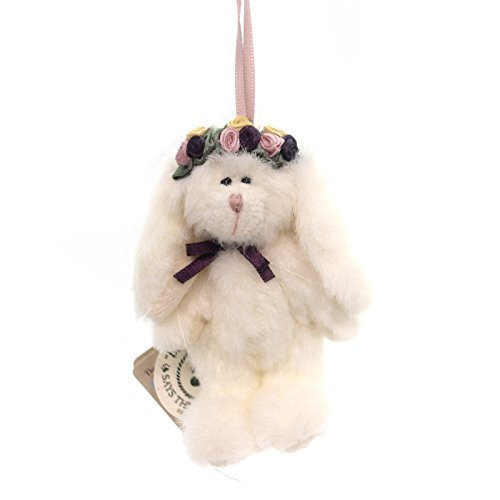 Boyds Bears Plush FLORABUN ORNAMENT Fabric Bunny Rabbit Flowers Jointed 562659