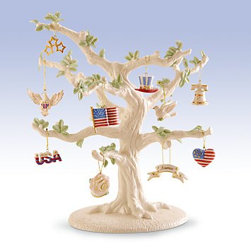 Lenox Set of 10 or 12 Ornaments for Ornament Tree (Tree Not Included) Fourth of July