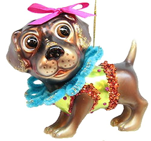 December Diamonds Blown Glass Ornament Labrador
