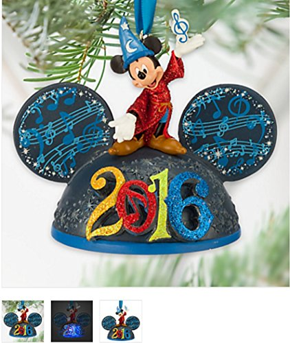Sorcerer Mickey Mouse Light-Up Ear Hat Ornament – Disney Parks 2016