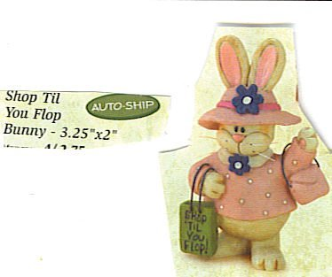 Shop Til You Flop Bunny Ornament