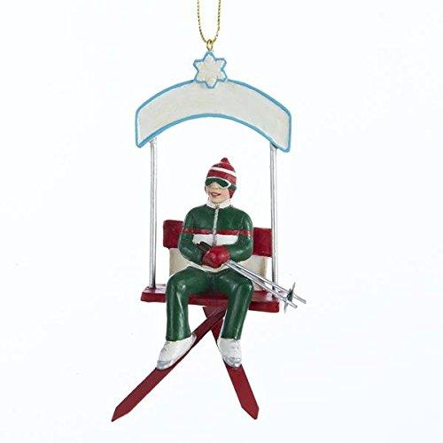 Kurt Adler 4″ Resin Skiing Boy Ornament