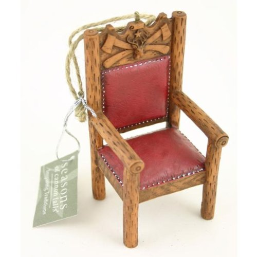 Rustic Lumberjack Chair Ornament