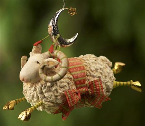 Joyful Flying Ram Ornament, 09-01223