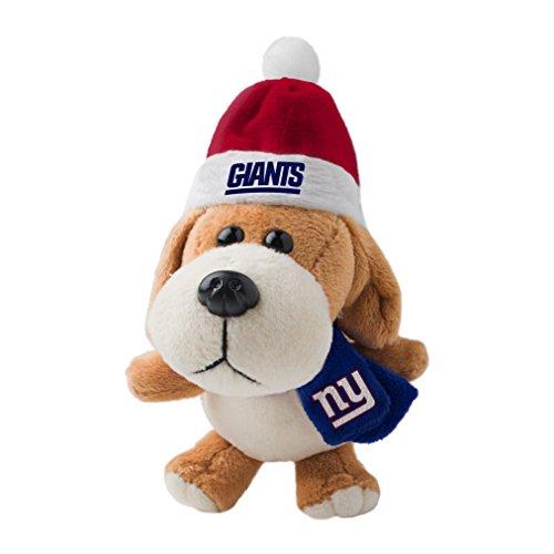 NFL New York Giants Plush Dog Ornament, 3″, Brown