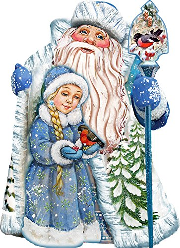 G. Debrekht Santa & Girl Deco Ornament