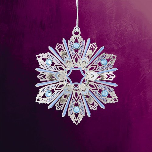 ChemArt 2.5″ Collectible Keepsakes Jeweled Snowflake Christmas Ornament