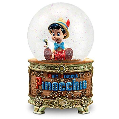Disney Pinocchio and Jiminy Cricket Snowglobe