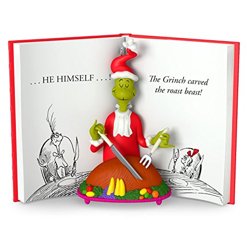 Hallmark 2016 Christmas Ornament Dr. Seuss The Grinch Carved the Roast Beast Ornament
