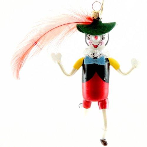 De Carlini PINOCCHIO DOLL Blown Glass Italian Christmas Ornament Geppetto V3399