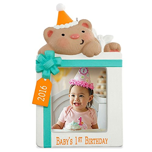 Hallmark Keepsake Baby's First Birthday Photo Holder 2016 Ornament
