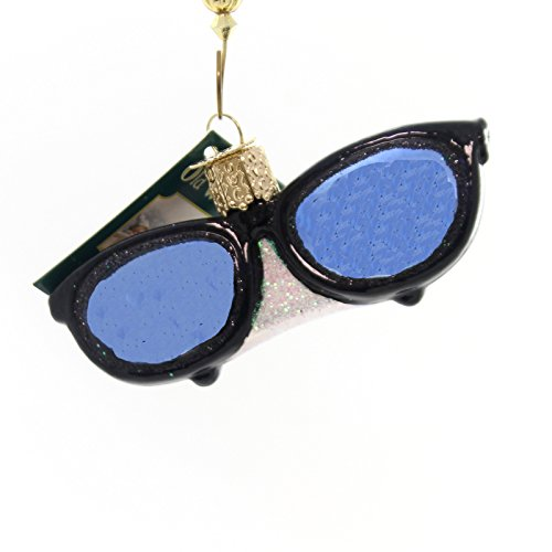 Old World Christmas SUNGLASSES Glass Ornament Eye Protection 36161 Black