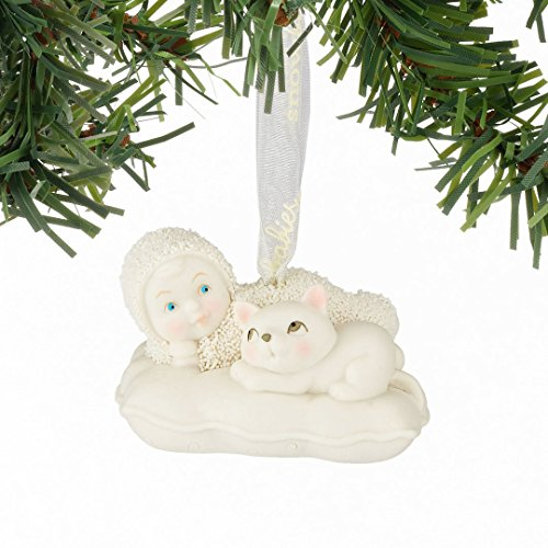 Snowbabies Catnap Baby with Kitten Porcelain Christmas Ornament 4051937 New