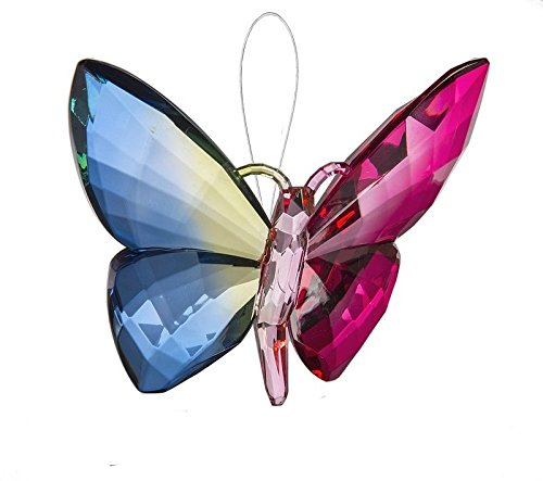 Ganz Crystal Expressions Ornament 5″ – Hanging Rainbow Butterflies (Design 3)