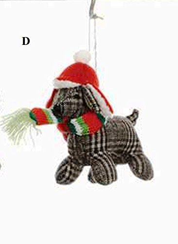 Creative Co-Op Whimsy Collection Fabric Dog Ornament, Choice of Style (D)