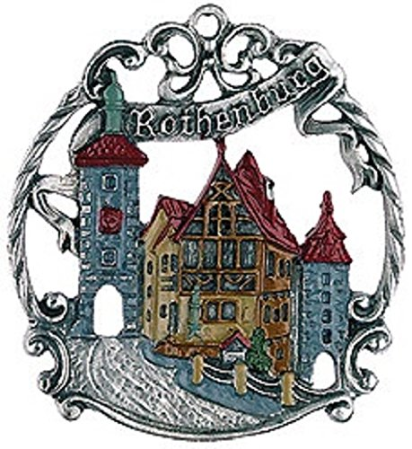 Rothenburg Germany City Skyline German Pewter Christmas Ornament Decoration
