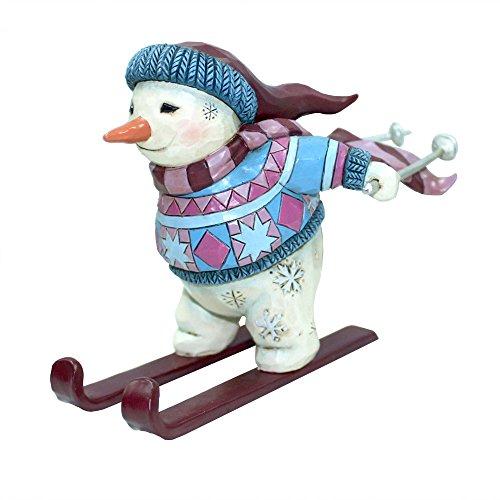 Jim Shore Heartwood Creek, Skiing Snowman Ornament
