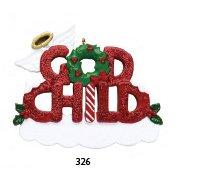 God Child Glitter Personalized Ornament