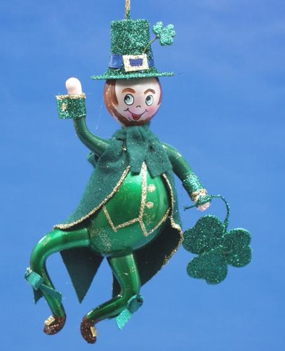 De Carlini Irish Man Italian Mouthblown Christmas Ornament
