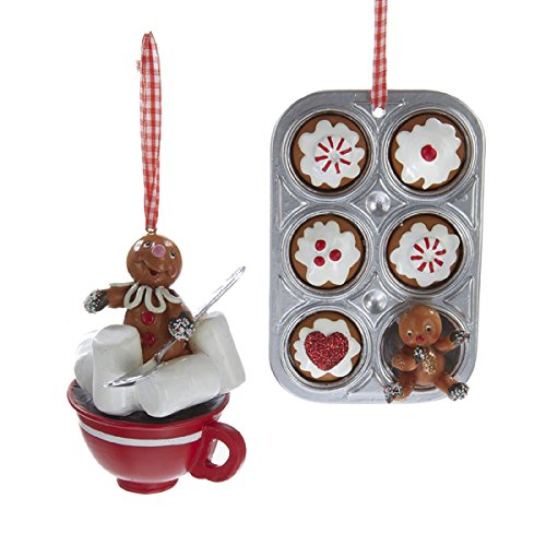 Kurt Adler 5.19″ Gngrbrd Cupcake Tray/coco