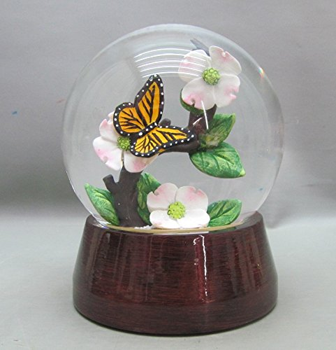 Butterfly on a Dogwood  Snow Globe With Beautiful Box