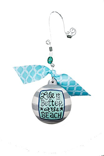 Glory Haus Life is Better at the Beach Ball Ornament, 4.5″