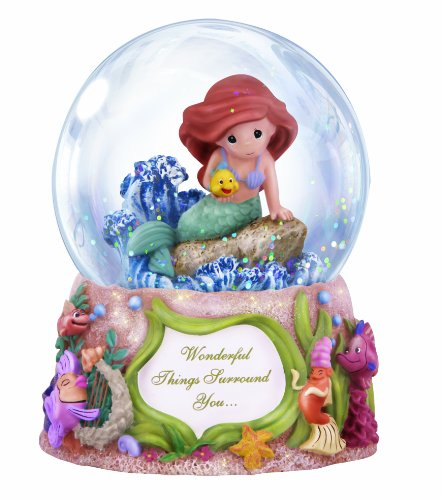 "Precious Moments Disney Showcase Collection, ""Wonderful Things Surround You"", Musical, Resin/Glass Snow Globe, #132108"