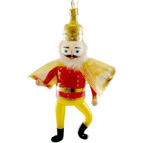De Carlini NUTCRACKER PRINCE Blown Glass Ornament Christmas Clara OM4211M