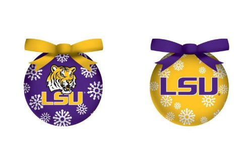 LSU Tigers Official NCAA LED Box Set Ornaments by Evergreen Enterprises