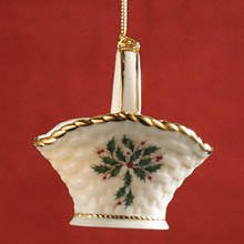 Lenox Holiday Basket Christmas Ornament NEW in Box