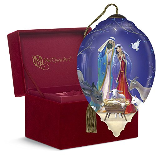 "Ne'Qwa Art, Christmas Gifts, ""Surrounded By Love"" Artist Sarah Summers, Princess-Shaped Glass Ornament, #7161170"