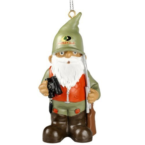 Mossy Oak Hunter Thematic Gnome Christmas Tree Hanging Ornament (Hunter w/ Binoculars Spring Version)