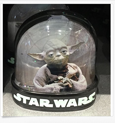 Disney Parks Star Wars Darth Vader Yoda 2 Side Plastic Snowglobe Water Dome NEW