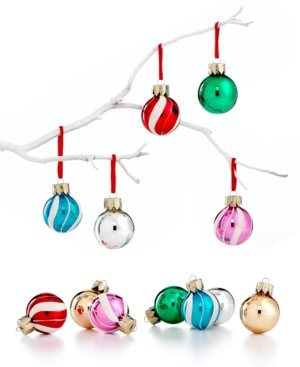 Holiday Lane Box of 12 Mini Swirl Ornaments