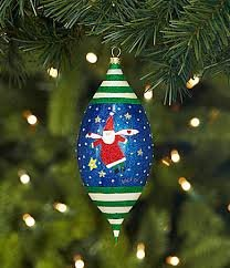 MD Anderson Center Santa Angel by Victor Finial Ornament