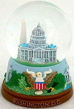 Washington D.C. Snow Globe – Capitol 65MM, Washington DC Snow Globes, Washington DC Souvenirs