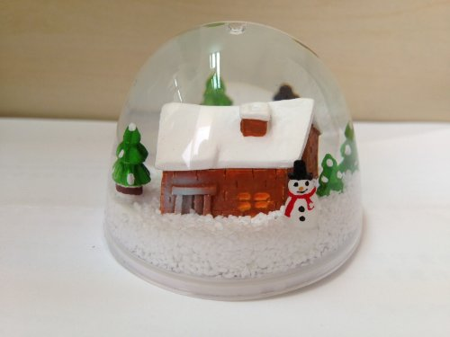 Pageup,winter Cabin,paper and Card/invite Holder Snow Globe