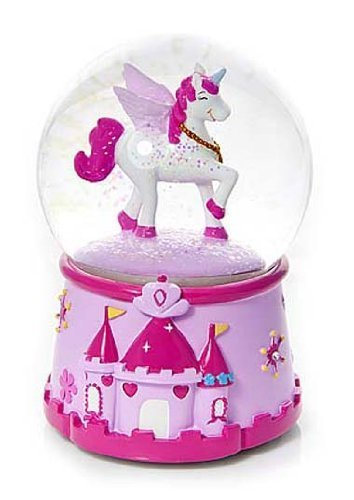 Magical Musical Unicorn Snow Globe Snowglobe Water Globe for Girls
