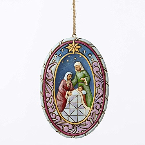 Jim Shore Heartwood Creek, Holy Family Oval Ornament
