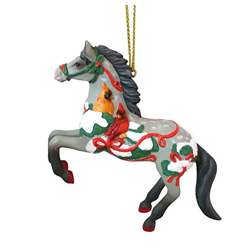 Enesco Trail of Painted Ponies Song of The Cardinal Ornament, 3.2″