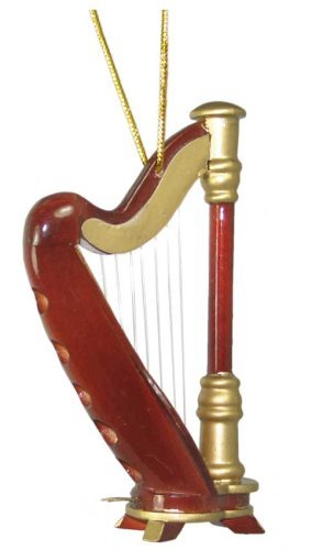 Miniature Harp Christmas Ornament 3.5 by BHB Glass & More